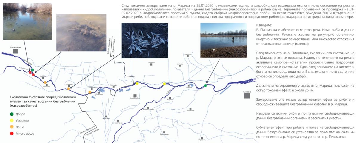 Министърът на околната среда и водите се опитва да спре търсенето на отговорност от причинителя на залповото замърсяване на р. Марица?