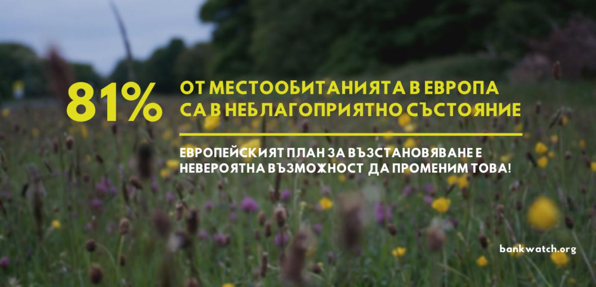Екоорганизации от Европа: финансирането по Механизма за възстановяване пренебрегва природата